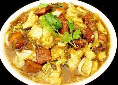 山西著名小吃:临县大烩菜  香塌脑瓜盖