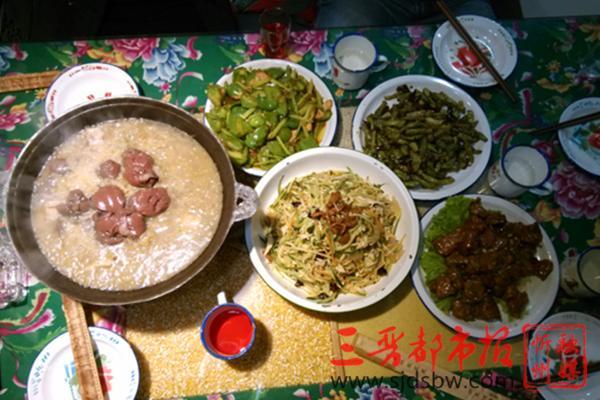 山西代县特色季节菜——杀猪菜